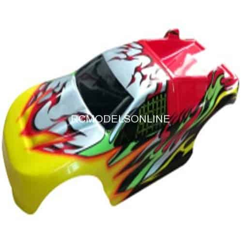 D6902 Red Monster Truck Body Shell For REMO HOBBY 8065 8066 1:8 Off-road RC  Brushless Racing Truck parts