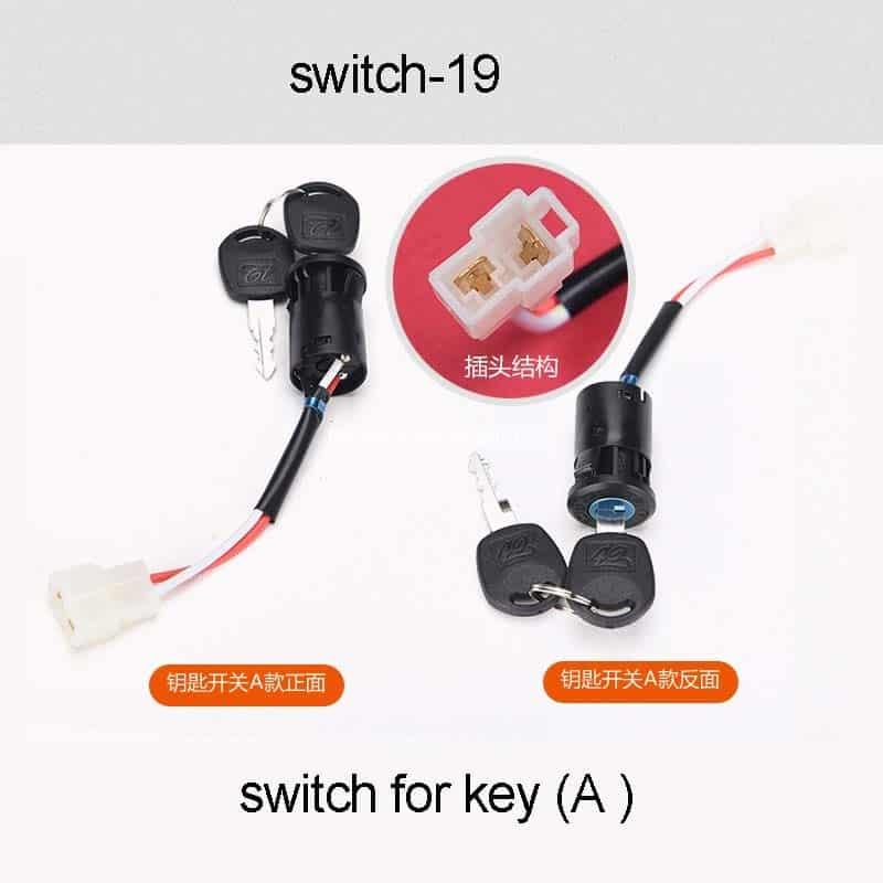 Switch For Key A For Children Electric Car Electric Baby Carriage Parts Accessories