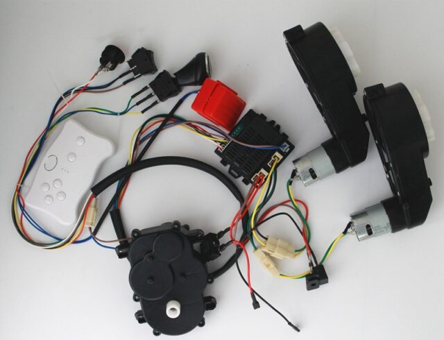 Baby Electric Car Diy Modified Wires And Switch Kit With 2 4g Bluetooth Remote Control Self Made Children Electric Car 12v Rcmodelsonline